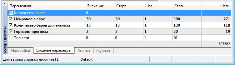Отображение sinput-параметра в тестере стратегий